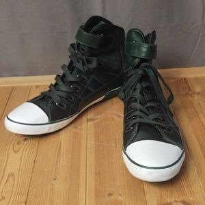 Zara High Top Sneakers in Hunter Green size 12